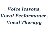Voice Lessons, Vocal Performance and Vocal Therapy with Jan Linder-Koda